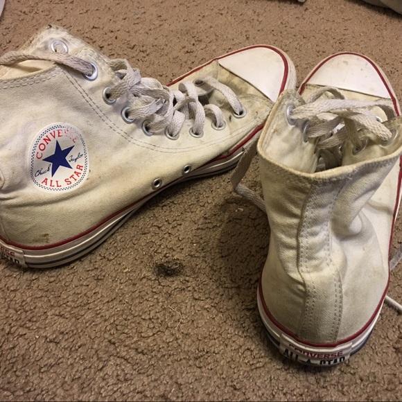 708121fad15a3c Converse Shoes - Dirty White Converse (9.5W) (7.5M)